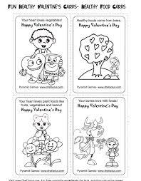 healthy valentine u0027s activities kids printable cards
