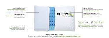 order of pillows on bed amazon com ghostpillow patent pending real time cooling aerated
