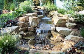 Rock Garden With Water Feature Rock Garden With Water And Pond Idea Of Fabulous Outside