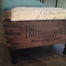 pre turned table legs create a foot stool out of a vintage crate with pre made furniture