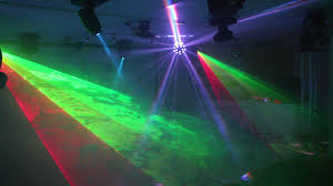 home disco lights synchronized to 5 scanners moving heads