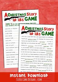 Printable Halloween Mad Libs by A Christmas Story Madlib Printable Holiday Party Game