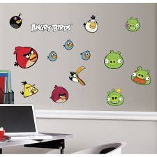 roommates rmk1794scs angry birds peel and stick wall decals wall roommates rmk1794scs angry birds peel and stick wall decals wall decor stickers amazon com