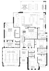 house plans for entertaining floor plan friday excellent 4 bedroom bifolds with integrated