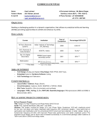 Curriculum Vitae Format Pdf Resume Format For Computer Operator Job Resume For Your Job