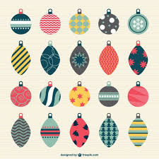 vintage christmas baubles vector free vector download in ai