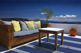 Outdoor Blue Rug by Breakwater Bay Dreadnought Hand Hooked Blue Indoor Outdoor Area