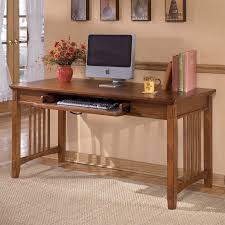 cross island desk w storage ashley furniture cross island large office desk in medium brown