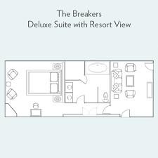 the breakers floor plan deluxe suite with resort view suites the breakers