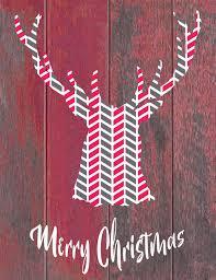 merry christmas modern free rustic modern deer head merry christmas printable daily