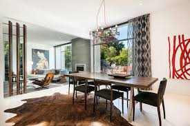 Cowhide Rug Living Room Ideas Bungalow Dining Room Ideas Dining Room Contemporary With Cowhide