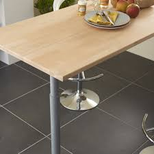 plan de travail cuisine grande largeur plan de travail bois hêtre brut mat l 250 x p 65 cm ep 26 mm