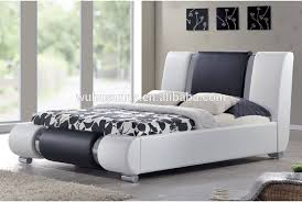 Black Leather Sleigh Bed Awesome Italian Faux Leather Sleigh Bed For White