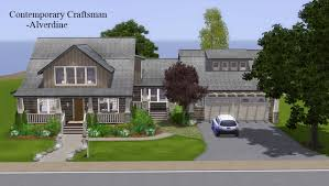 mod the sims contemporary craftsman 3br 3ba cc free