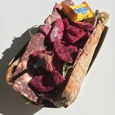 a sandwich designed for vampires at revival food hall u0027s danke