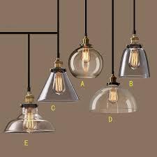 nordic vintage glass pendant lamp american country kitchen lights fixtures modern edison luminaire 110v 220v