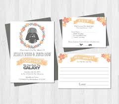 wedding wishes birmingham wars wedding invitation set suite printable darth vader