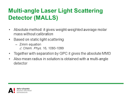 multi angle light scattering puu instrumental analysis in surface polymer and nanoscience ppt