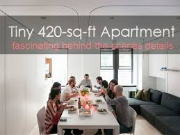 How Big Is 1100 Square Feet Huge Multi Functional Living Potential In A Tiny 420 Sq Ft