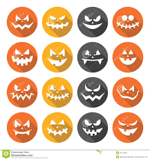 scary halloween clipart scary halloween pumpkin faces flat design icons set stock vector