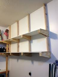 Wall Storage Ideas by Lovely Garage Overhead Storage Diy 11 Shelvesbuild Shelves Uk