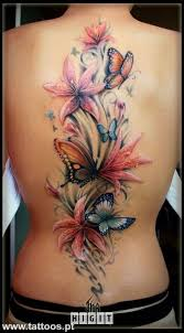 50 butterfly tattoos with flowers for butterfly