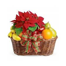 fruit gifts by mail christmas poinsettia and fruits jpg
