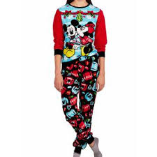 Sweater Pajamas Disney Womens Fleece Mickey Mouse Minnie Sweater Pajamas