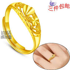 golden gold rings images Female models yunnan alluvial gold plated rings gold rings jpg