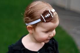 football headbands crochet baby girl football headband and by flowersforbella on etsy