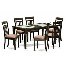 7 piece glass dining room set marceladick com