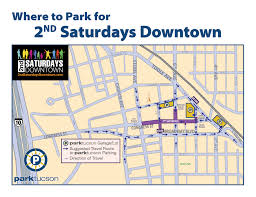 Map Of Tucson 2nd Saturdays Downtown Tucson Music Entertainment Food And