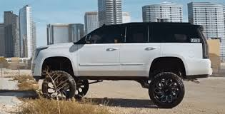 cadillac escalade lifted lifted escalade on grid road wheels