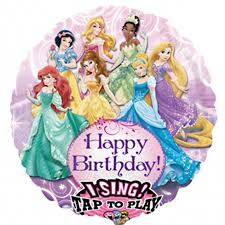 singing birthday disney princess singing birthday balloon delivered inflated in uk