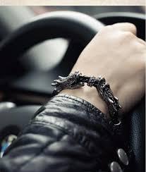 dragon leather bracelet images The punk sasang sacred cloud rider black dragon bracelet men jpg