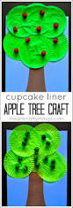 Toddler Halloween Arts And Crafts by Cupcake Liner Apple Tree Craft Tree Crafts Cupcake Liners And