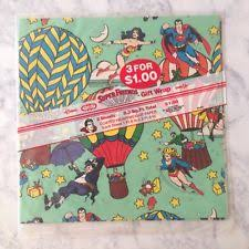 superman wrapping paper dc wrapping paper ebay