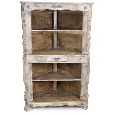 how to whitewash brown cabinets rustic whitewashed corner cabinet with shelves