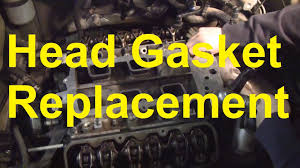 how to replace the head gasket and intake manifold gaskets on a gm