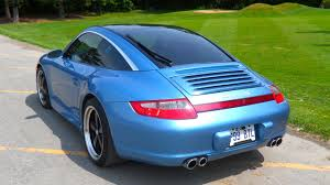 cpo 2008 porsche 911 carrera 4 paint to sample vintage iris blue