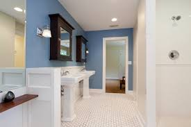 subway tile bathroom floor ideas 27 cool blue master bathroom designs and ideas pictures