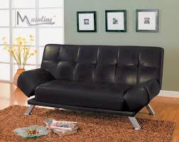 black by cast leather futon sofa bed empire furniture home decor