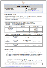 resume format information technology over 10000 cv and resume sles with free download mba