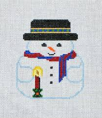 snowman needlepoint canvas 18 ct canvases be