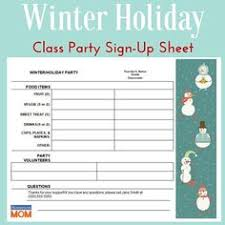 this holiday party letter lets parents know the date and time of