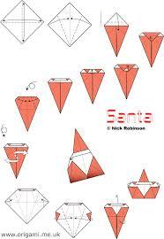 How To Make A Origami Santa - origami santa alfaomega info