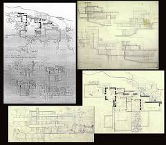 House Rules Floor Plan Original Floor Plan And Section Cuts Frank Lloyd Wright