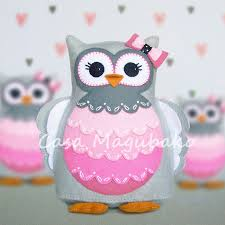 felt owl pincushion digital pattern pdf file owl soft