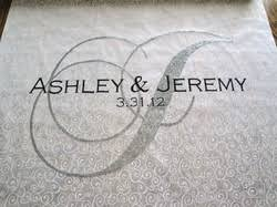 personalized aisle runner custom aisle runners