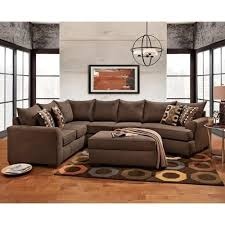 brown sectional sofa with cuddler essence earth by affordable